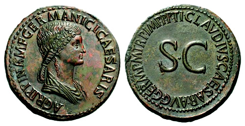 Roman coin - Agrippina Senior - Ae Sestertius